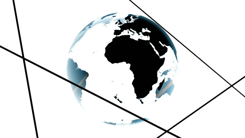 Multiple colors and lights inserted into the world map white background world map blue black globe loop animation Planet Earth spinning isolated on white background rotating globe digital data world
