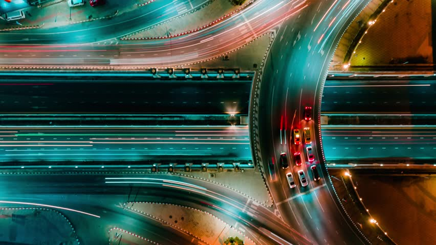 Time lapse expressway top view, Circle Road traffic an important infrastructure in Bangkok Thailand | Shutterstock HD Video #1023019270
