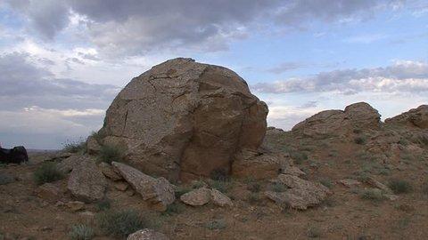 Kazakhstan. Ustyurt Plateau. Ball formations.