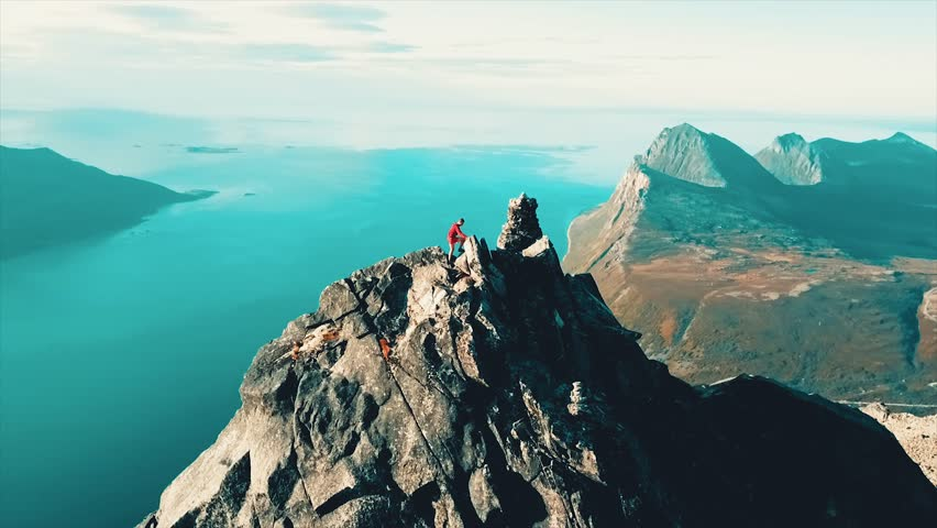 In northern Norway, there rises a mountain out from the ocean. Reaching the top is a feat saved for the most experienced mountaineers.