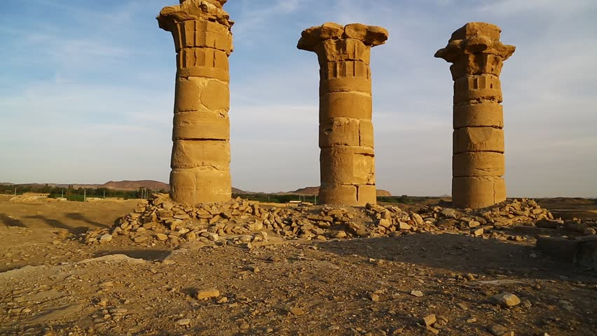in africa sudan el kurru nuri   the antique temple of the black pharaohs in the middle of the desert