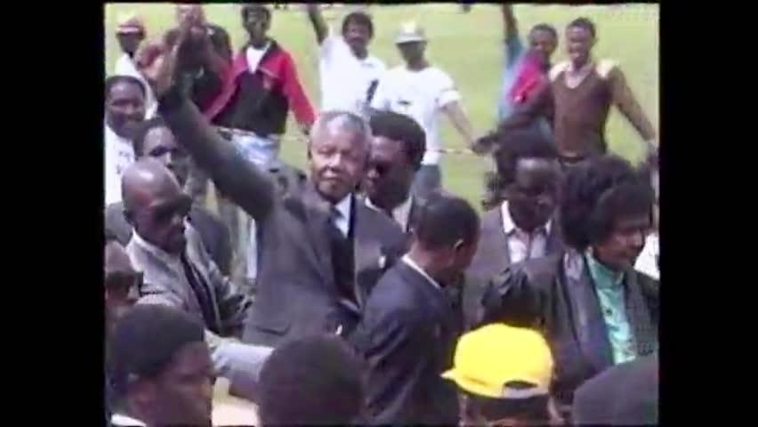Cape Town, South Africa. 11 February 1990. Nelson Mandela returns free