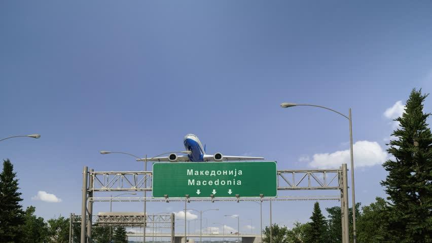 Airplane Take off Macedonia | Shutterstock HD Video #1023097867