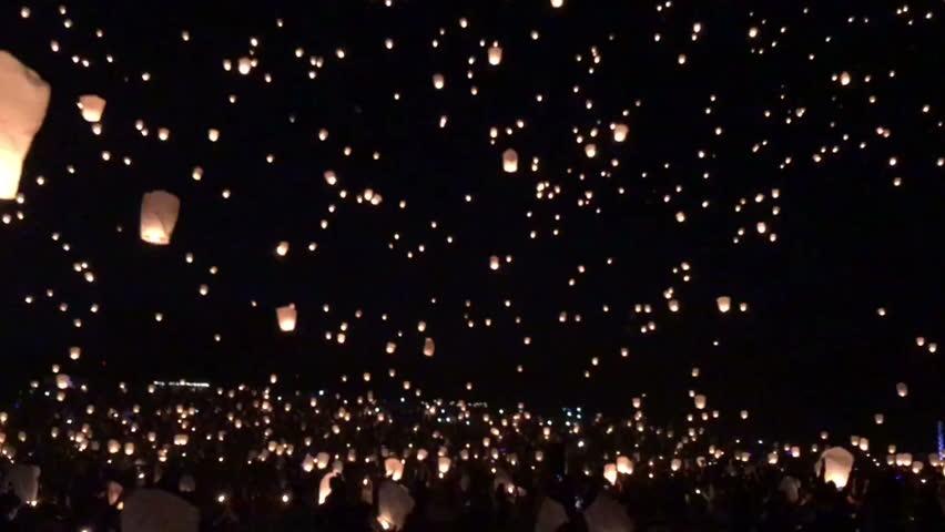 Sky lantern background | Shutterstock HD Video #1023111202