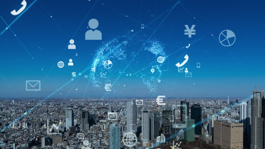 Internet of Things concept. IoT. ICT.   Shutterstock HD Video #1023112618