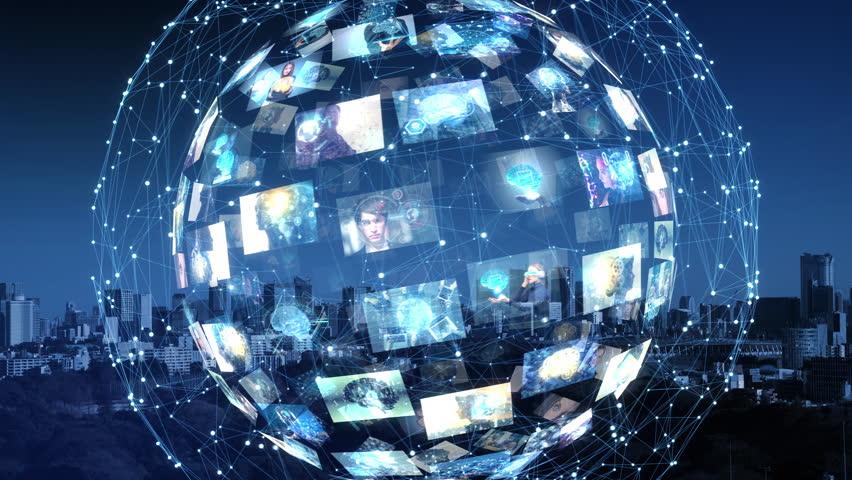 Social networking concept.   Shutterstock HD Video #1023112648