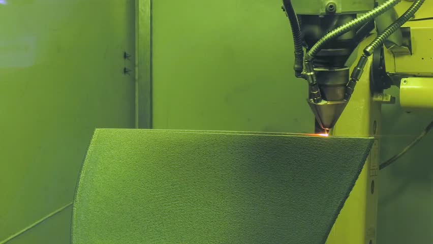 3D printer produces metal parts. Revolutionary additive technology for sintering metal parts.