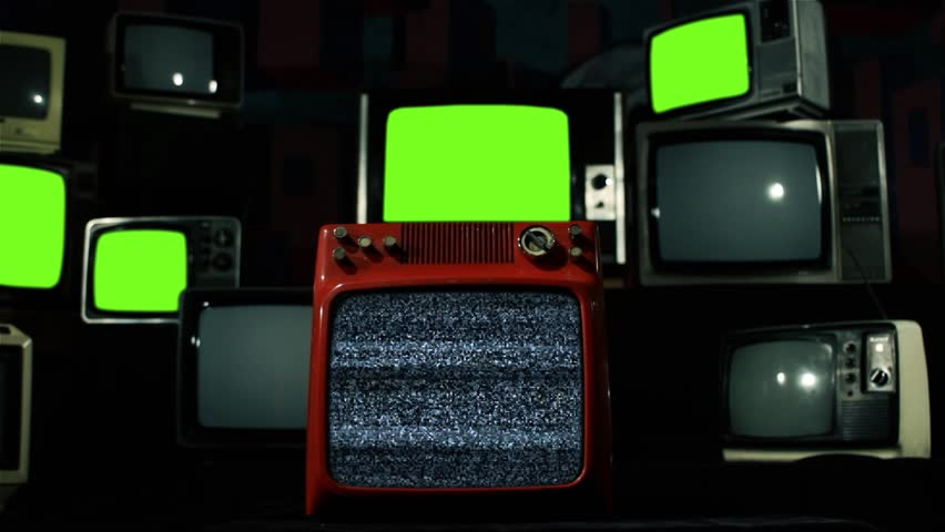"Malfunction Old Tvs Green Screen. Blue Tone. You can replace green screen with the footage or picture you want. You can do it with ""Keying"" effect (check out tutorials on YouTube). 