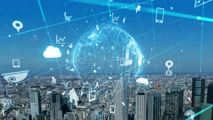 Internet of Things concept. IoT. ICT.   Shutterstock HD Video #1023190900