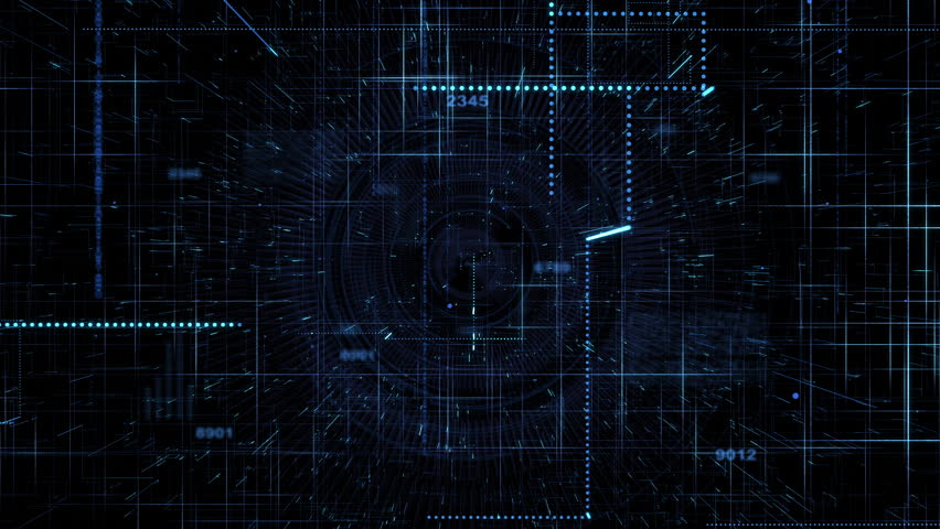 Futuristic technology concept motion background,blue color  | Shutterstock HD Video #1023235261