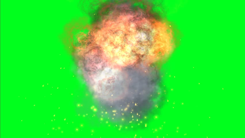 Fire ball on green screen