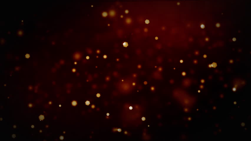 Fire sparks floating on a deep red background with blurry soft effect. Glowing and glistening lights with bokeh light. Abstract fire design.  #1023341206