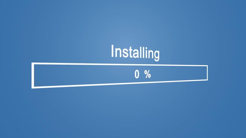 Install Program Process Animation on Blue Background | Shutterstock HD Video #1023389887