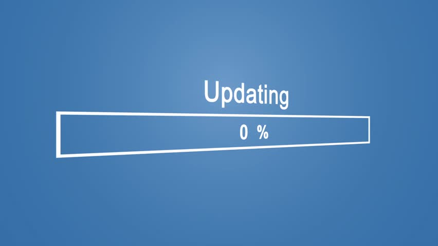 Updating Process Animation on Blue Background | Shutterstock HD Video #1023389893