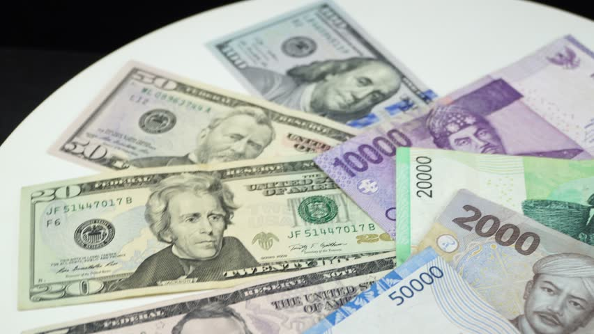 Money And Us Dollar Stock Footage
