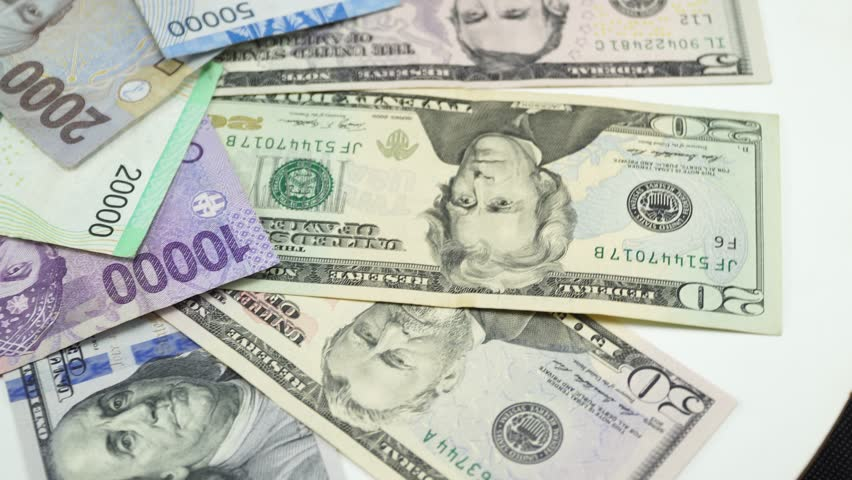 Indonesia Money And Us Dollar Stock