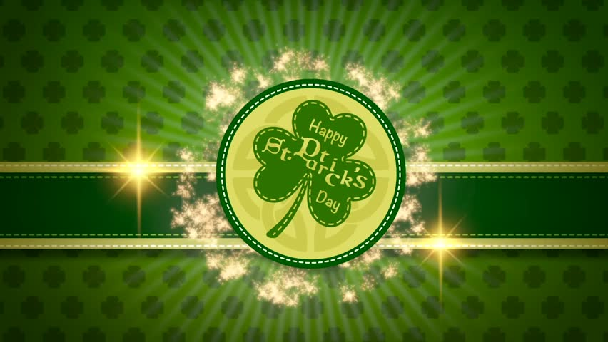 Saint Patricks day party promotion looped video animation for pub or bar   Shutterstock HD Video #1023402631