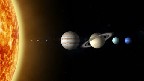 Comparison Size Planets Stock Video Footage - 4K and HD Video ...