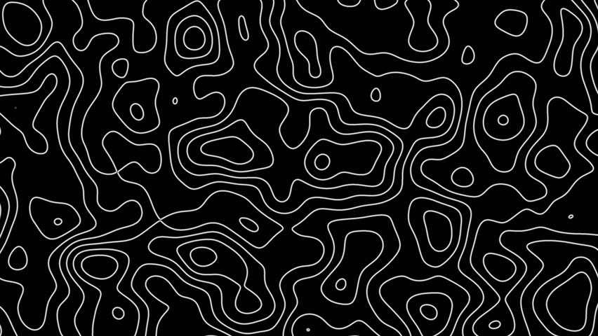 Seamless loop fractal lines background. Topographic map like abstract backdrop | Shutterstock HD Video #1023447325