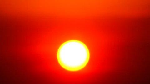 4K Sunset sky orange sky orange  outdoor summer nature sunrise with silver lining and cloud on the orange sky