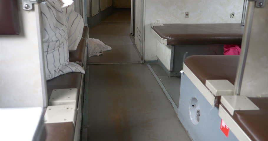 Third class couchette carriage interior of Trans Siberian, Russia   Shutterstock HD Video #1023464287