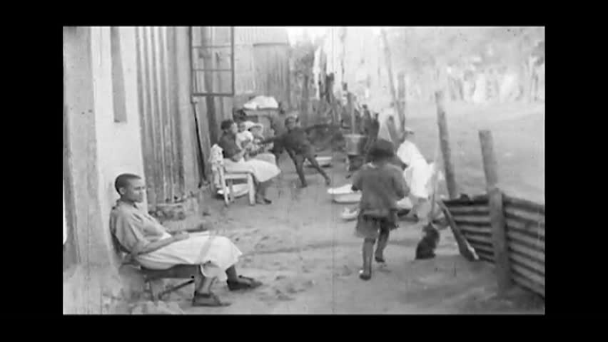Cape Town, South Africa. About 1965. Huts and poor district in Cape Town