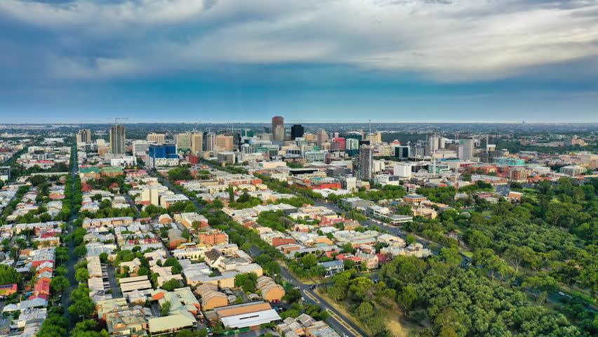 4k aerial hyperlapse video of Adelaide in Australia