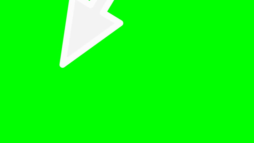 Looped animation on a green background. animated arrow. | Shutterstock HD Video #1023556324