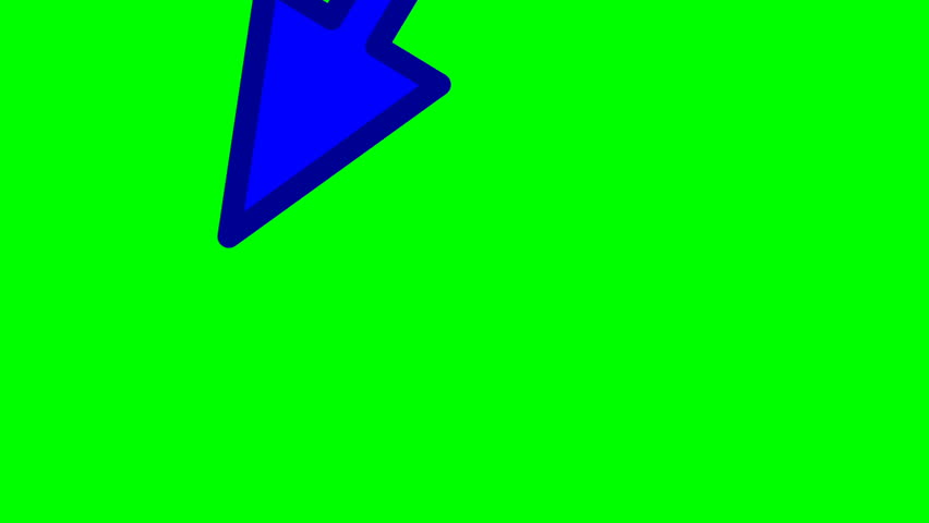 Looped animation on a green background. animated arrow. | Shutterstock HD Video #1023556327