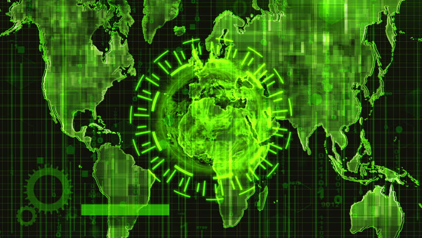 Hud interface,technology concept motion green background | Shutterstock HD Video #1023606919