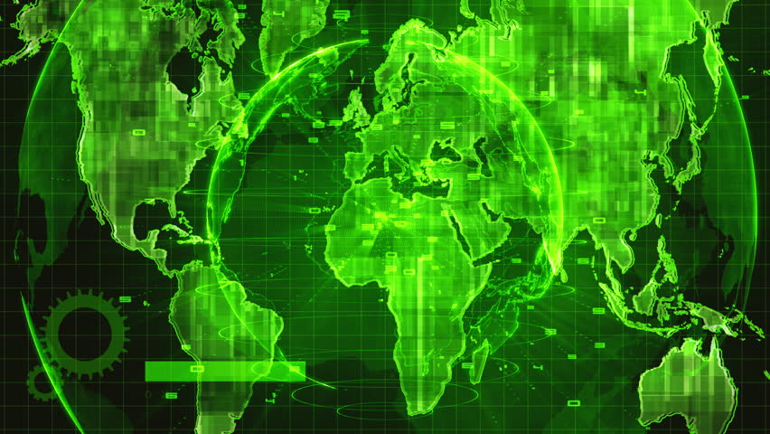 Hud interface,technology concept motion green background | Shutterstock HD Video #1023607327