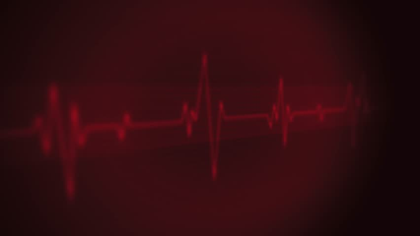 4k Medical Heart Pulsation Wave Signal/ Animation of a health technology background with red sine wave of heart pulsation signal Royalty-Free Stock Footage #1023627250