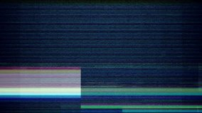 Glitch noise static television VFX. Visual video effects stripes background, tv screen noise glitch effect. Video background, transition effect for video editing, intro and logo reveals with sound.