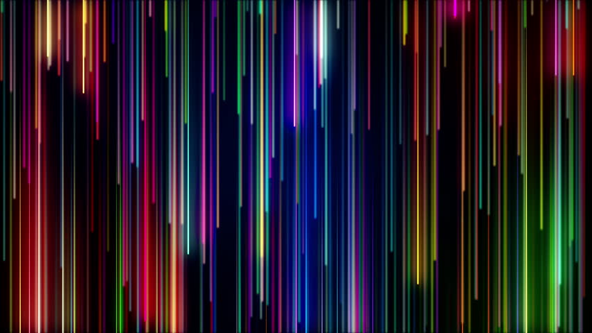 Colorful neon bright lines falling down. Streaks of light. Seamless looping abstract background animation.  | Shutterstock HD Video #1023711943