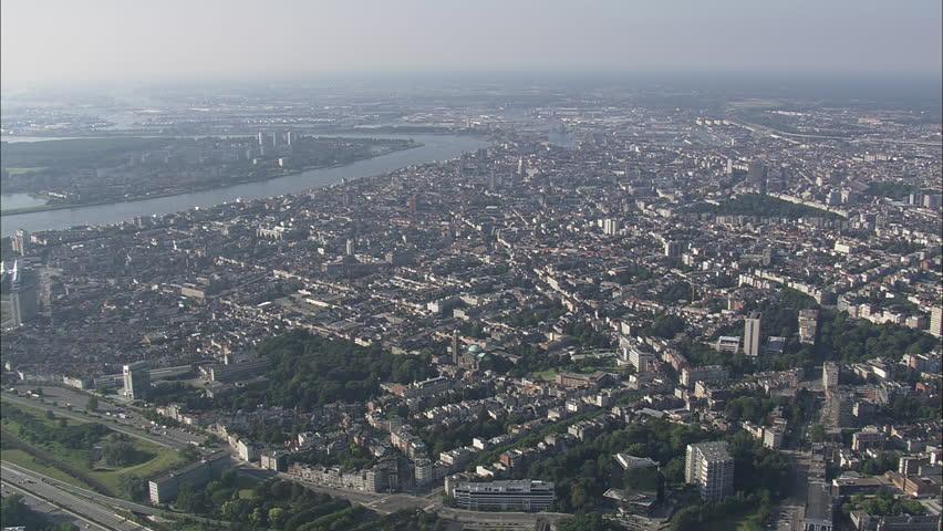 AERIAL Belgium-Antwerp 2007: Antwerp panoramic views