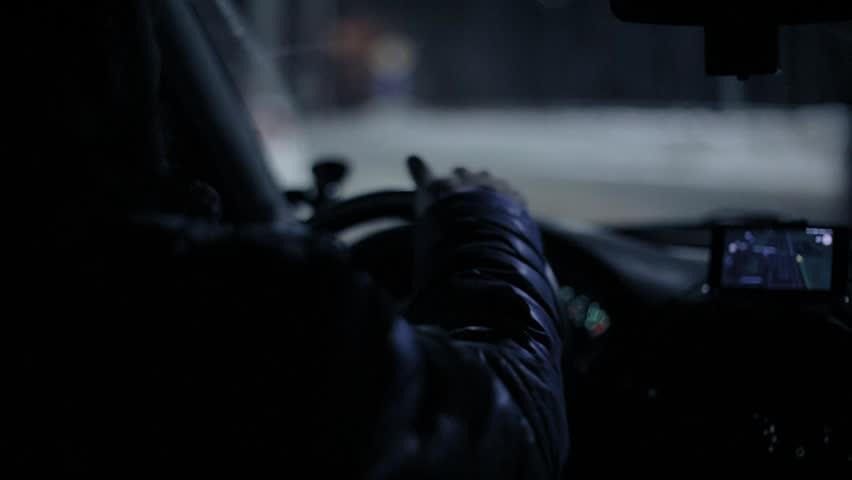 A man in the car driving | Shutterstock HD Video #1023794023