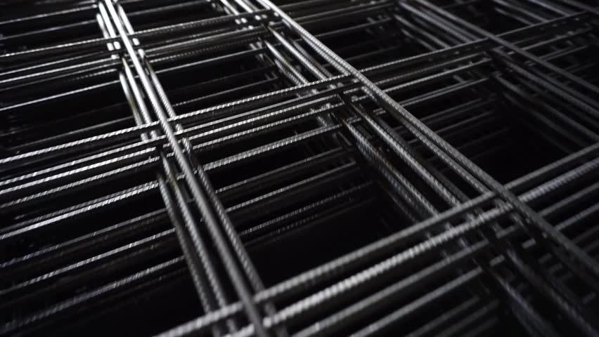 Construction iron background. Reinforcement Mesh building material    Shutterstock HD Video #1023815644