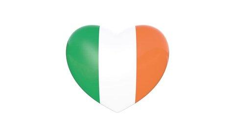 Irish Flag Beating Heart