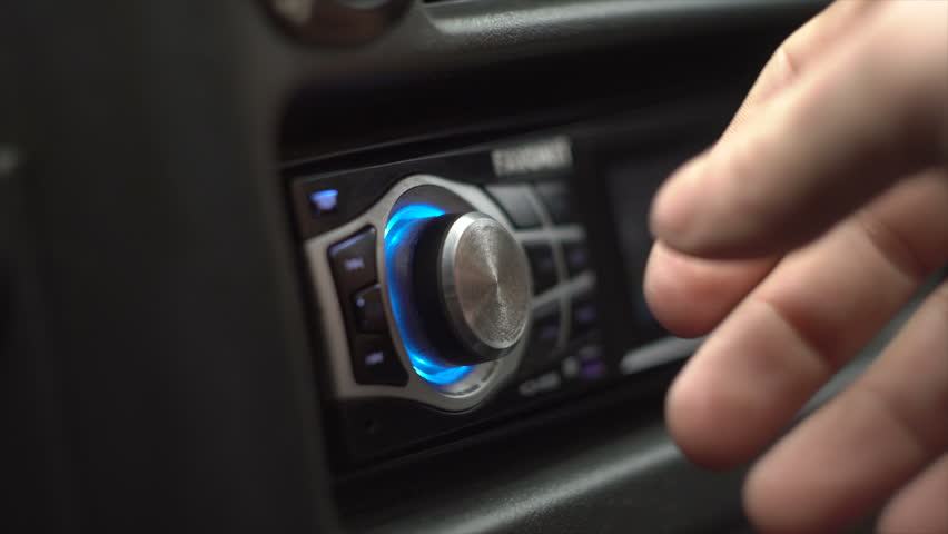 Men Switches And Listens The Radio In The Car | Shutterstock HD Video #1023929476