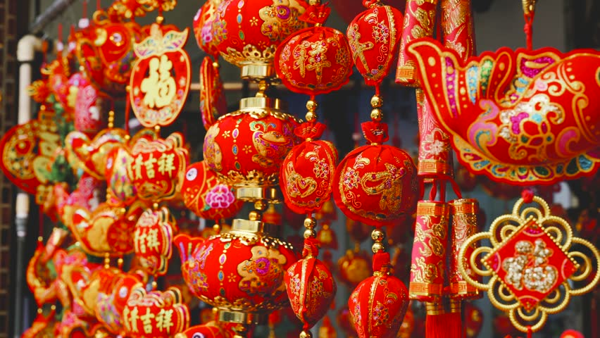 Traditional Chinese New Year Decorations Stock Footage Video 100 Royalty Free 1023944324 Shutterstock