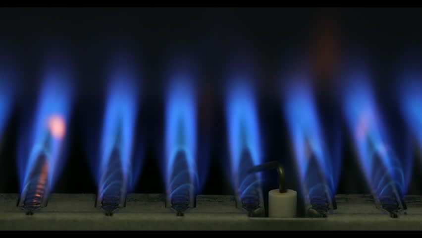 Close-up of ignition and burning of natural gas inside of boiler furnace 4K | Shutterstock HD Video #1023957620
