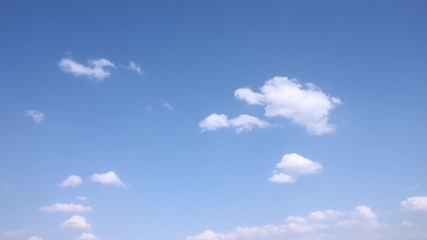 Clear very nice soft blue sky, white rolling, fast motion time lapse clouds in horizon, relaxing day, fluffu, puffy lightness weather, formating white cloudscape. -UHD. | Shutterstock HD Video #1024023575