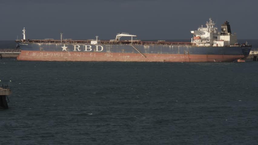 Oil tanker Adele Marina Rizzo loading in port Arzew Algeria 11.19.2018