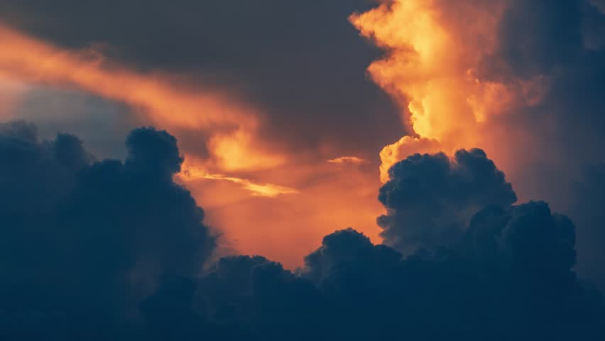 Epic storm tropical clouds at sunset. 4K UHD Timelapse. | Shutterstock HD Video #1024100906