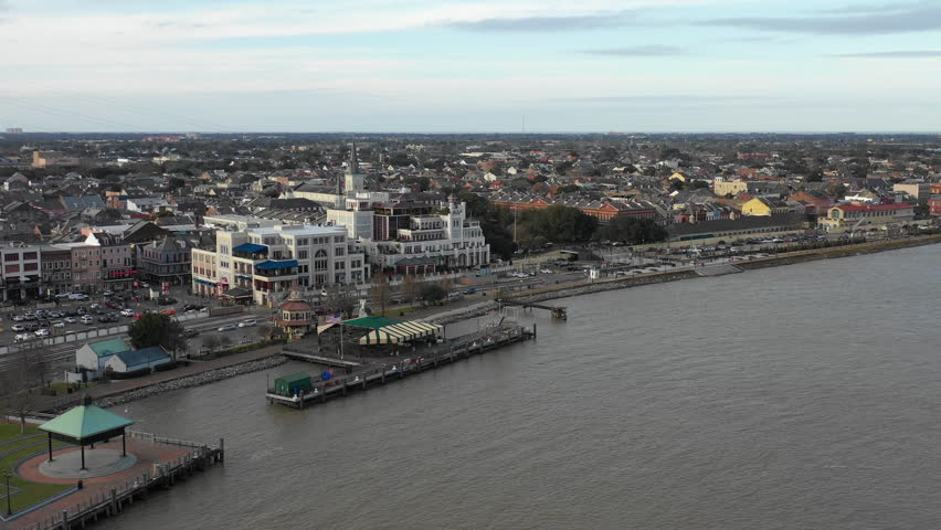 Aerial view of New Orleans French Quarter in Louisiana