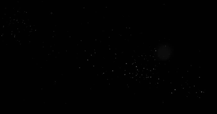 Flying dust particles on a black background #1024185308