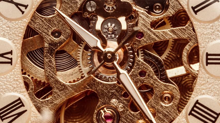 Antique clock dial close-up. Vintage pocket watch. | Shutterstock HD Video #1024230737