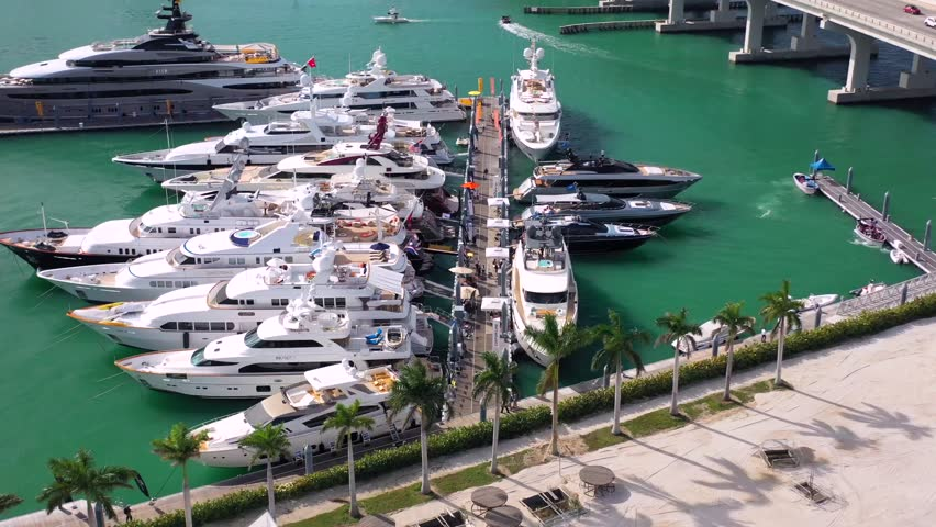 Super Yacht Show in Miami 2019 | Shutterstock HD Video #1024244912