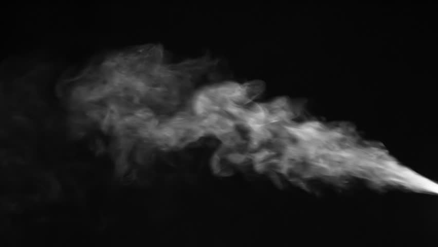 The jet of cold white steam shoots from left to right, gradually dissolving. Motion at a rate of 120 fps | Shutterstock HD Video #1024252691