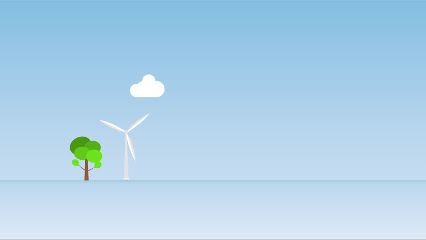 Infographic motion graphics wind turbine with city. energy electricity sustainable nature clean renewable station wind global clean.  | Shutterstock HD Video #1024265690